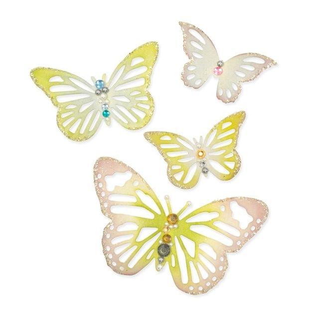 Sizzix Thinlits Die Set 4PK - Winged Beauties  - 659707