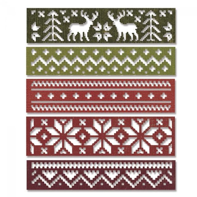 Sizzix Thinlits Die Set 5PK - Holiday Knit - 660981