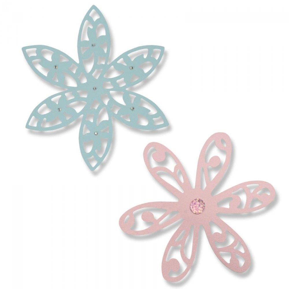 Sizzix Thinlits Die Set 2PK - Intricate Delightful Daisy - 661042