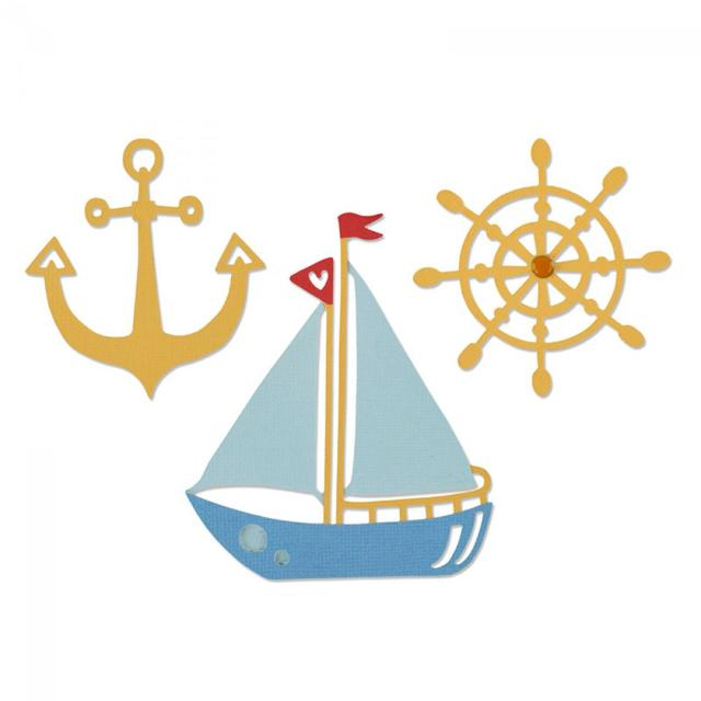 Sizzix Thinlits Die Set 3PK - Shipmates - 661165