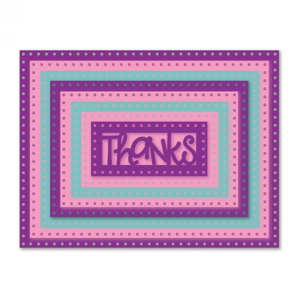 Sizzix Framelits Die Set 9PK - Rectangles, Dotted - 661561