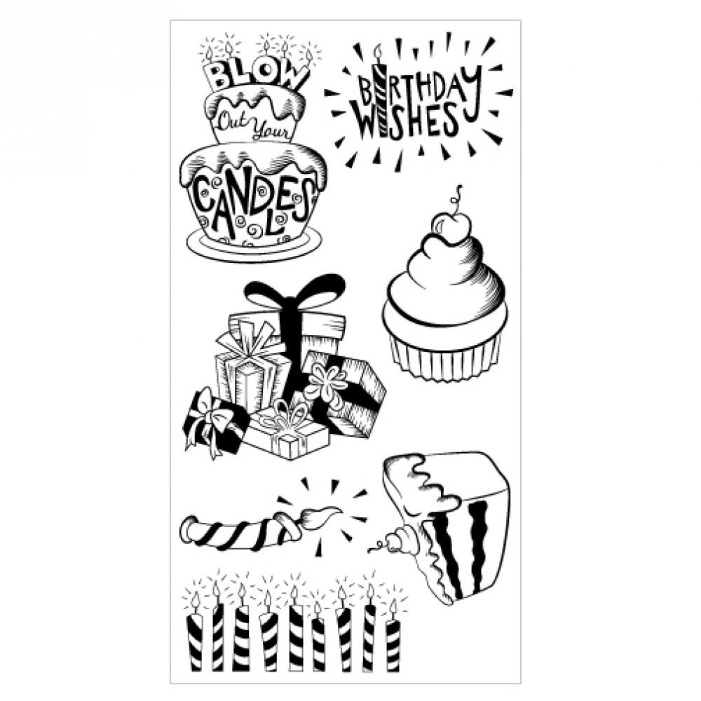 Sizzix Clear Stamps - Birthday Wishes -  660634