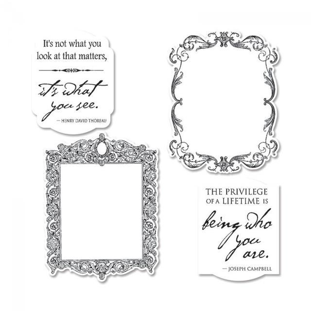 Sizzix Framelits Die Set 4PK w/Stamps - Frames - 659054