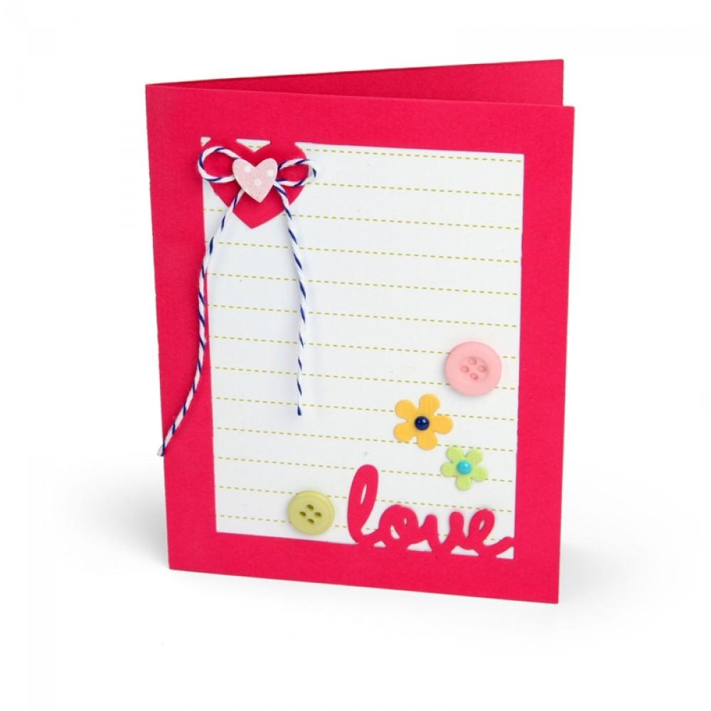 Sizzix Framelits Die Set 14PK - Card w/Lovely Sentiments Drop-ins-660143