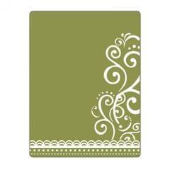 Sizzix Textured Impressions Embossing Folder - Flourish & Lace- 661355