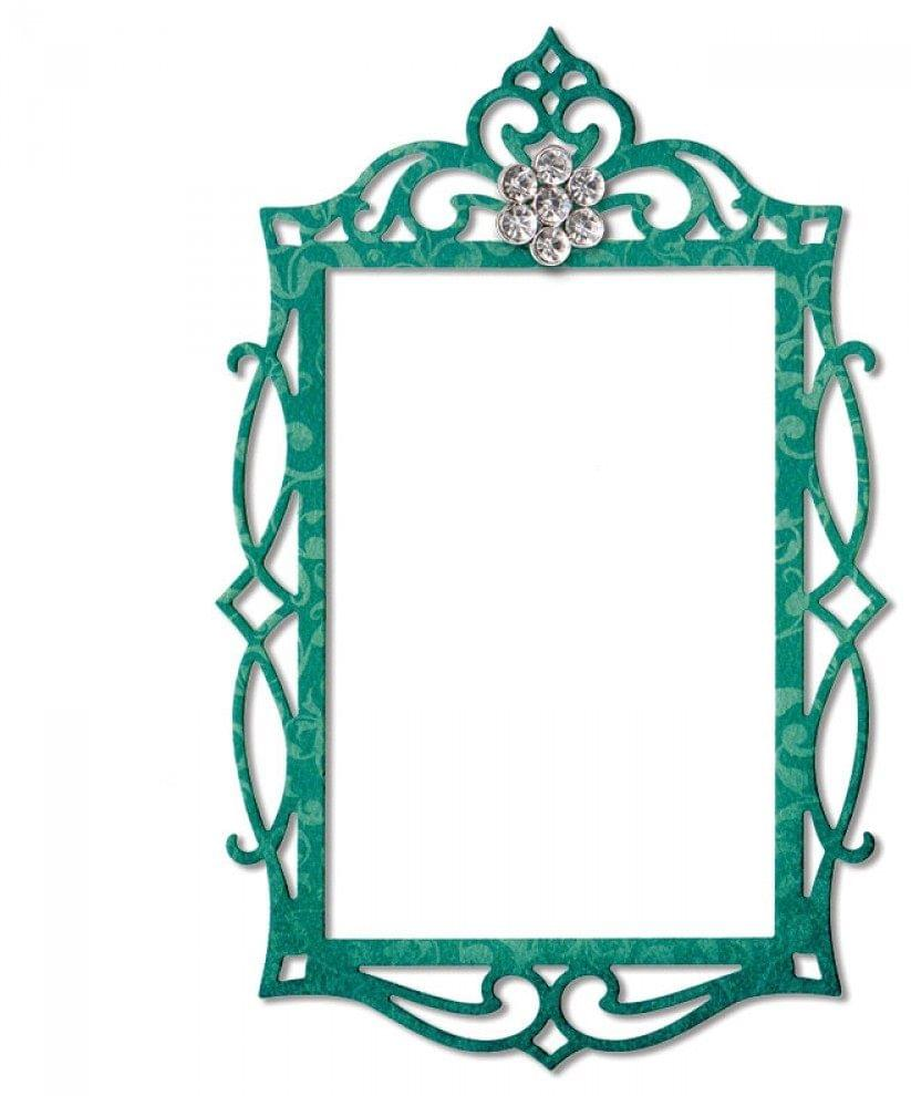Sizzix Thinlits Die - Frame, Fancy Rectangle- 658948