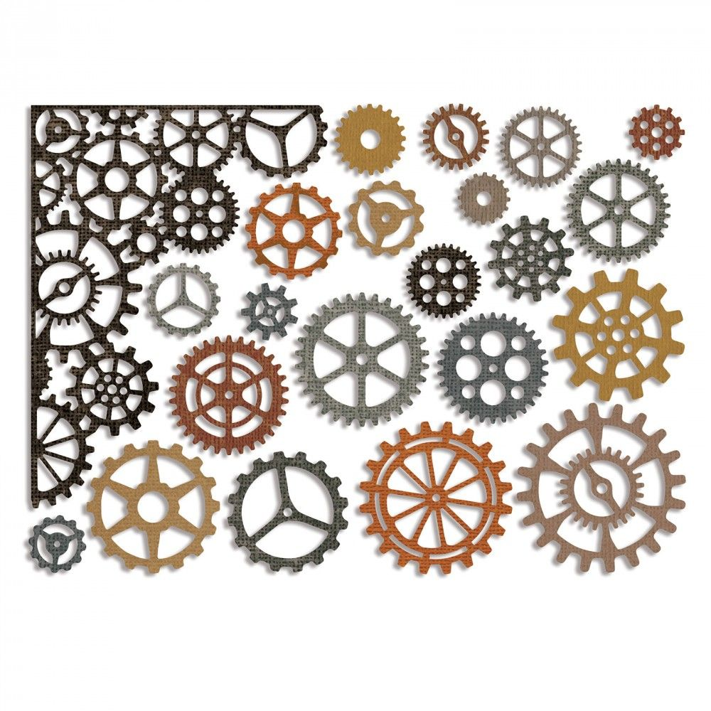 Sizzix Thinlits Die Set 22PK - Gearhead - 661184