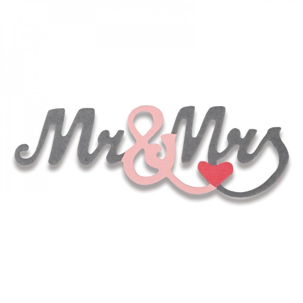Sizzix Thinlits Die - Mr. & Mrs. #2 Mini- 661793