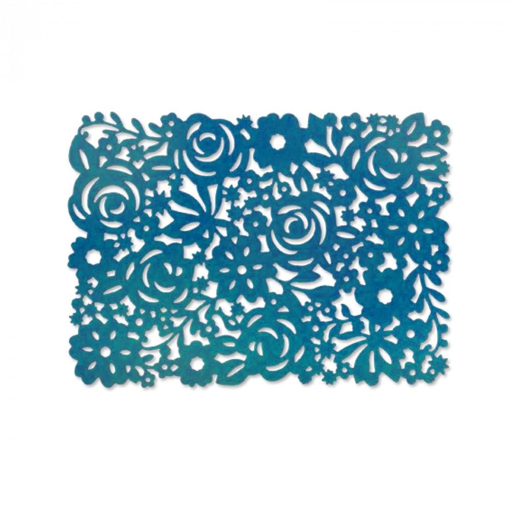 Sizzix Thinlits Die - Floral Panel- 661085
