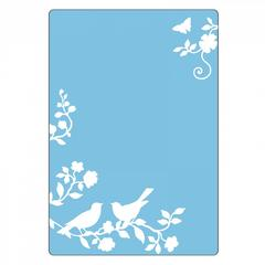 Sizzix Textured Impressions Embossing Folder - Songbirds- 661474