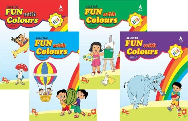 Fun with Colour Combo of 4 books  (English, Paperback, ALLSTAR TEAM)