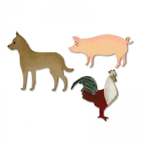 Sizzix Bigz Die - Chinese New Year Animals - A10934