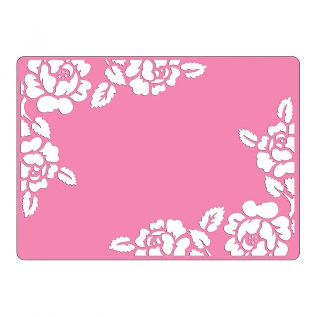 Sizzix Textured Impressions Embossing Folder - Roses-660268