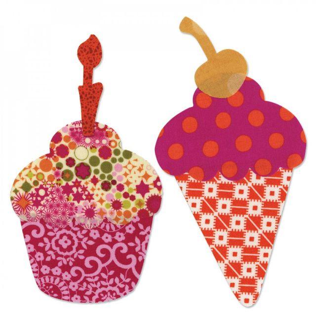 Sizzix Bigz L Die - Cupcake or Ice Cream Cone w/Cherry & Candle - 659846