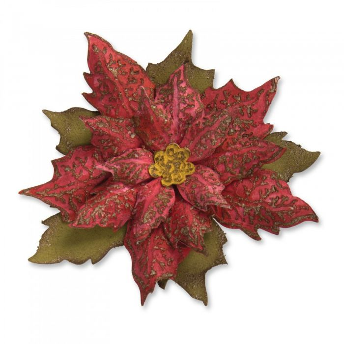 Bigz Die w/Texture Fades - Layered Tattered Poinsettia -662170