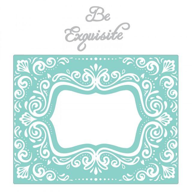 Sizzix Impresslits Embossing Folder - Aquarius Frame - 661952
