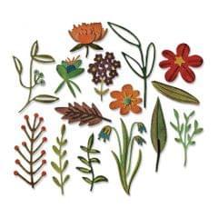 Sizzix Thinlits Die Set 15PK - Funky Floral #2 - 662701