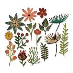 Sizzix Thinlits Die Set 15PK - Funky Floral #3 - 662701