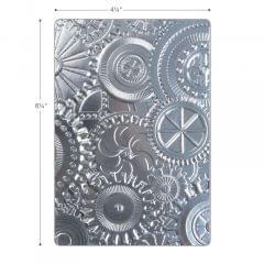 Sizzix 3-D Texture Fades Embossing Folder - Mechanics Item - 662715