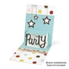 Sizzix Pop 'n Cuts Magnetic Insert Die - Phrase, Party 3-D (Pop-Up) Item - 658047