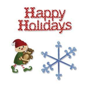 Sizzix Sizzlits Die Set 3PK - Happy Holidays Set Item -656267