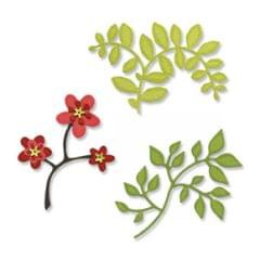 Sizzix Sizzlits Die Set 3PK - Flowers, Branches & Leaves Set Item - 656064