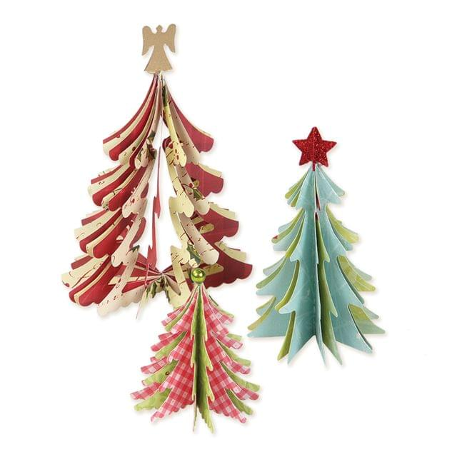 Sizzix Bigz Die - Christmas Trees, 3-D Item - 658754