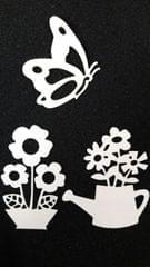 Vase w/ Flower & Butterfly 3PK - CPMD010