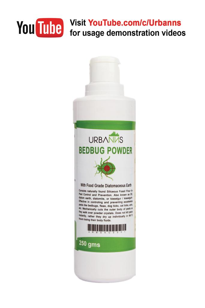 Organic Bed Bug Powder with Food Grade Diatomaceous Earth 1x250 gms