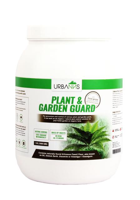 Organic Plant and Garden Insect Guard based on Food Grade Diatomaceous Earth