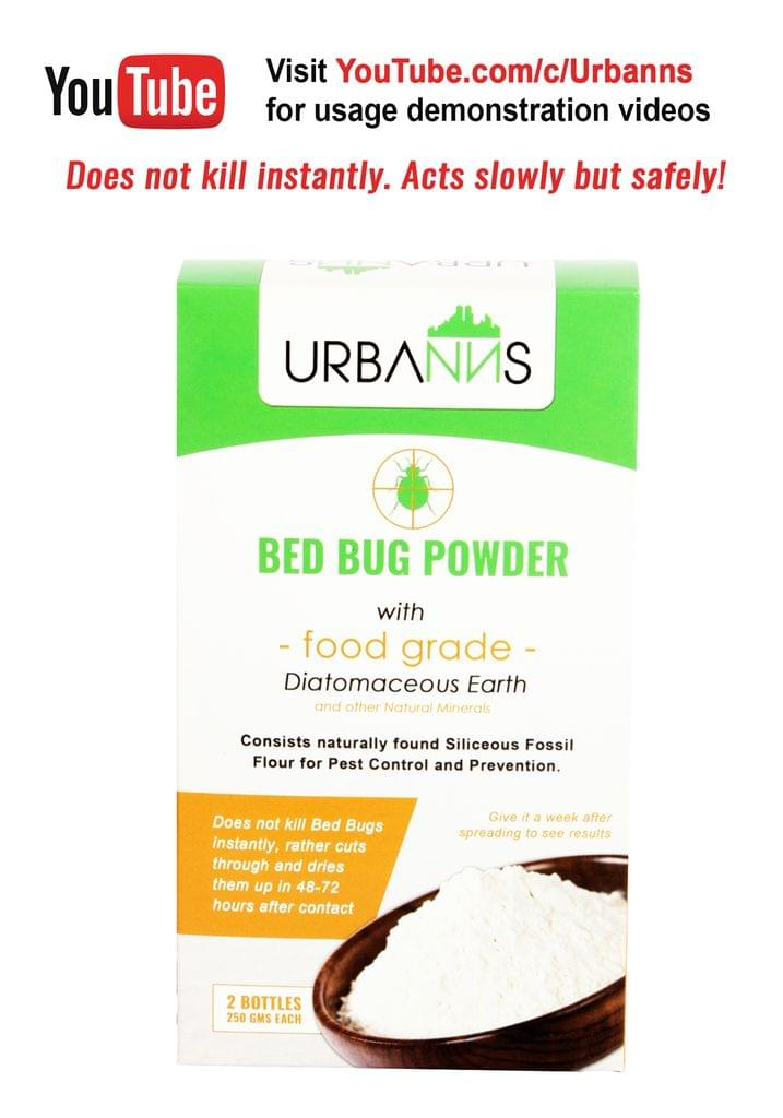 Organic Bed Bug Powder Pack of 2 x 250 gms each