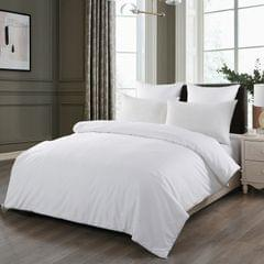 (QUEEN)Royal Comfort 100% Silk Filled Eco-Lux Quilt 300GSM With 100% Cotton Cover  White
