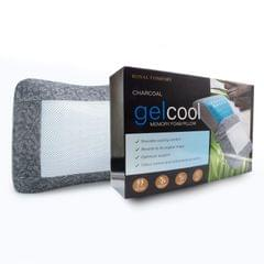 Royal Comfort Cool Gel Charcoal Infused High Density Memory Foam Pillow