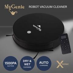 MyGenie XSonic Robotic Vacuum Cleaner Carpet Floors Dry Wet Mopping Auto Robot