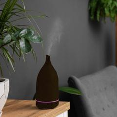 Milano Decor Aroma Diffuser 100ml Ultrasonic Humidifier Purifier And 3 Pack Oils - Dark Wood