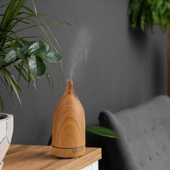 Milano Decor Aroma Diffuser 100ml Ultrasonic Humidifier Purifier And 3 Pack Oils - Light Wood