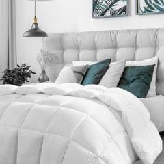 Casa Decor Silk Touch Quilt 360GSM All Seasons Antibacterial Hypoallergenic - Single - White