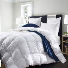 (KING SINGLE)Royal Comfort Quilt 50% Duck Down 50% Duck Feather 233TC Cotton Pure Soft Duvet - King Single - White