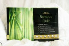 (SINGLE)Royal Comfort Bamboo Quilt 350GSM Luxury Hotel Feel All Seasons Boxed - Single - White