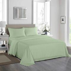 (DOUBLE)Royal Comfort 1200 Thread Count Sheet Set 4 Piece Ultra Soft Satin Weave Finish - Double - Sage Green