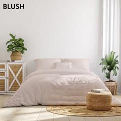 (DOUBLE)Royal Comfort 1000TC Hotel Grade Bamboo Cotton Sheets Pillowcases Set Ultrasoft - Double - Blush