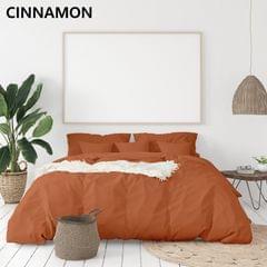 (QUEEN)Royal Comfort 1000TC Hotel Grade Bamboo Cotton Sheets Pillowcases Set Ultrasoft - Queen - Cinnamon