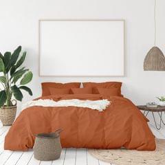 Balmain 1000 Thread Count Hotel Grade Bamboo Cotton Quilt Cover Pillowcases Set - King - Cinnamon