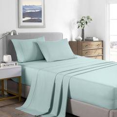 Casa Decor 2000 Thread Count Bamboo Cooling Sheet Set Ultra Soft Bedding - Queen - Frost