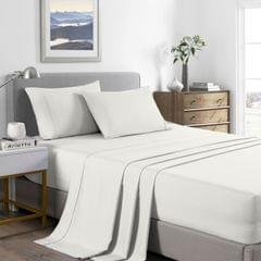Royal Comfort 2000 Thread Count Bamboo Cooling Sheet Set Ultra Soft Bedding - King - Natural