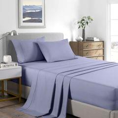 (KING)Casa Decor 2000 Thread Count Bamboo Cooling Sheet Set Ultra Soft Bedding - King - Lilac Grey