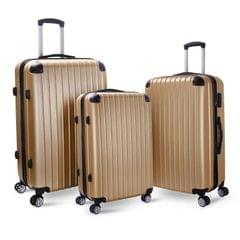 Milano Slim Line Luggage  - Gold 3pc Set