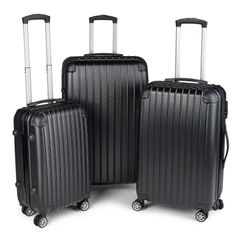 Milano Slim Line Luggage  - Black 3pc Set