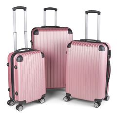 Milano Slim Line Luggage  - Rose Gold 3pc Set