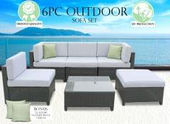 Milano Outdoor 6 PC Rattan Sofa Set